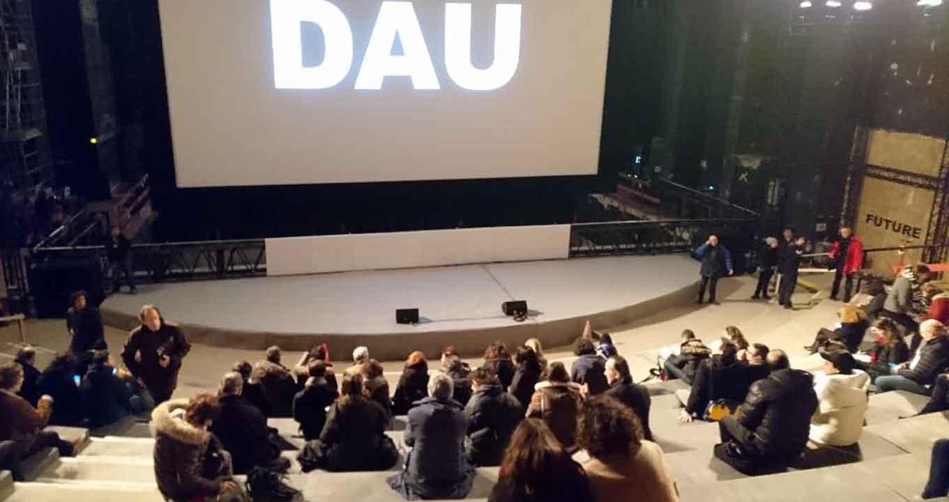 Die Projektion im Théâtre de la Ville