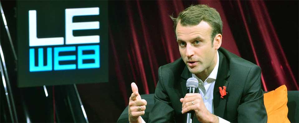 Macron erklärt seine Vorstellungen auf der Konferenz Le Web 2014
