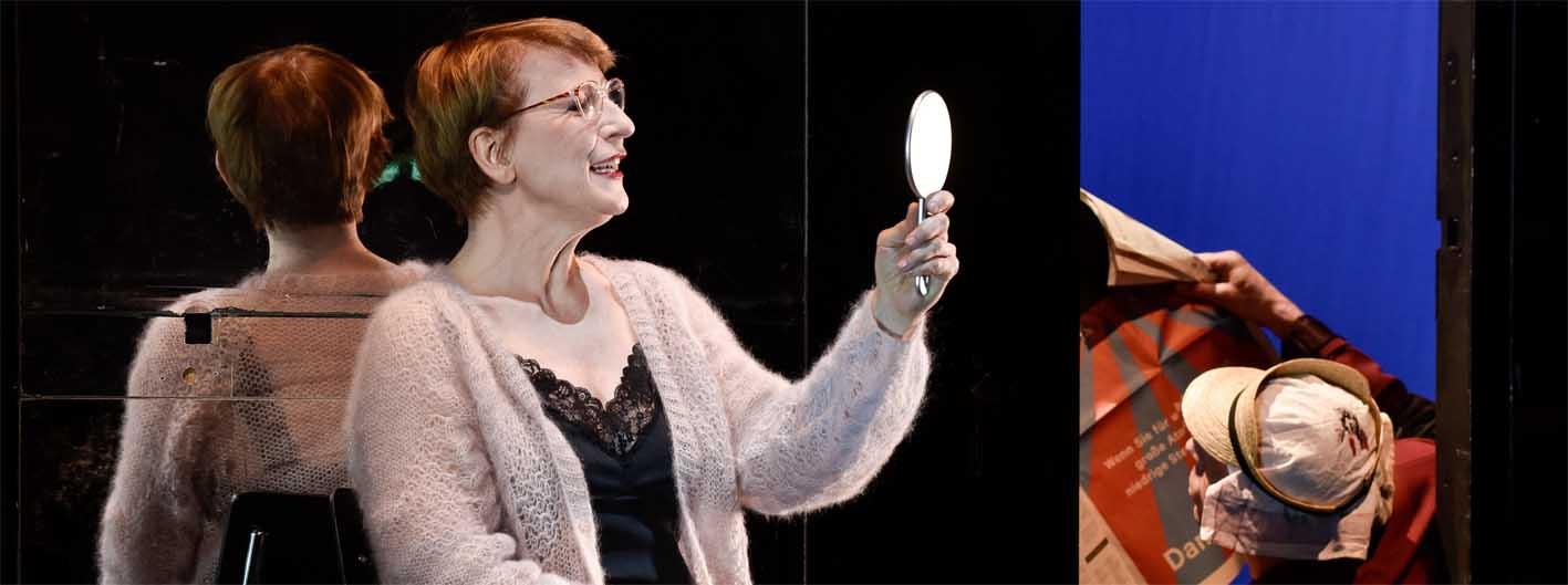 Dagmar Manzel spielr Winnie in der Inszenierung vom Christian Schwochow
