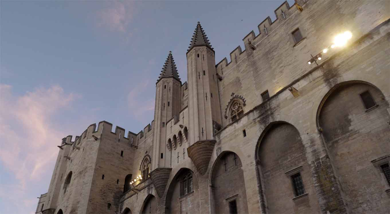Der Papspalast in Avignon