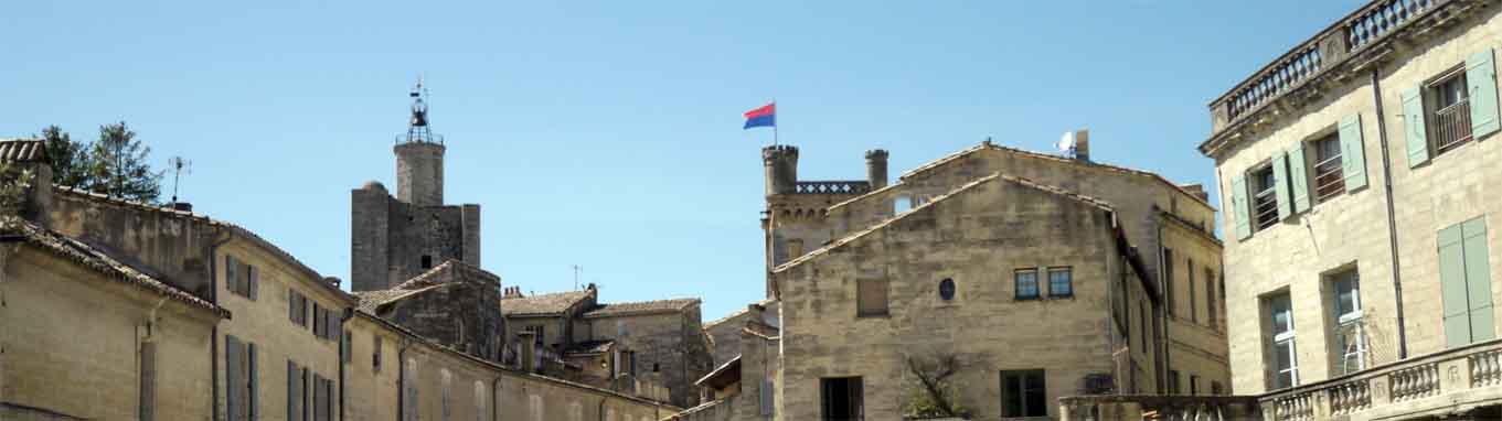 Uzès in Südfrankreich hat eine mittelalterliche Bebauung
