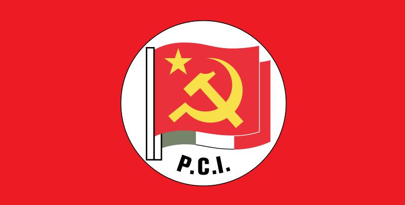 Das Emblem der Partito Comunista d'Italia